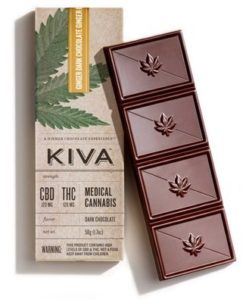 60 Dark Chocolate Espresso CBD Kiva Bar