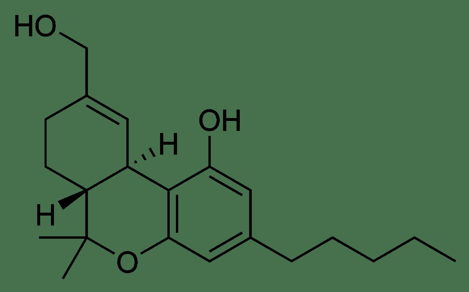 THC chemical composition diagram.