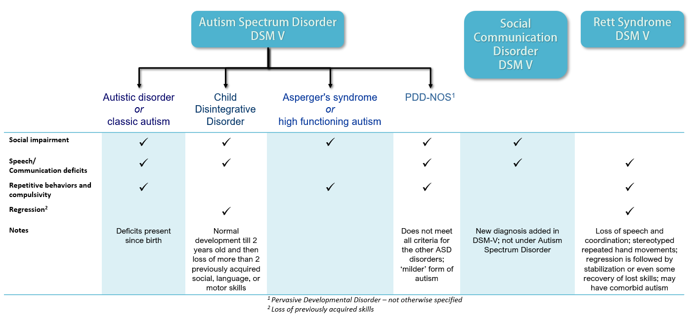Autism spectrum and how its classified