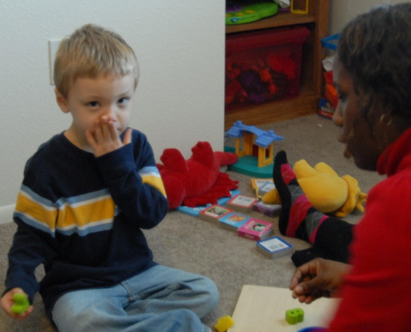 a little boy with autism