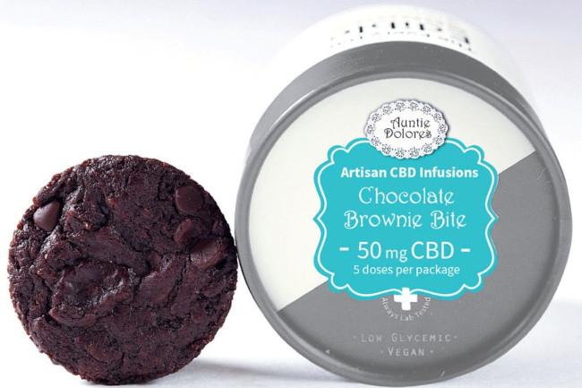 Auntie Dolores CBD chocolate brownie bites