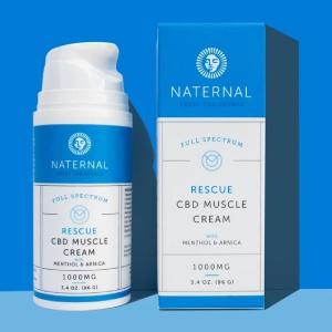 Naternal 1000mg CBD Muscle Cream