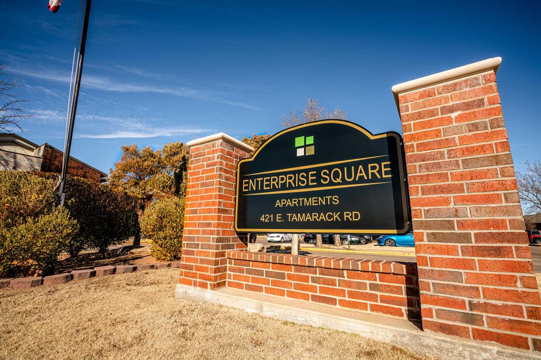 Enterprise Square Apartments sign