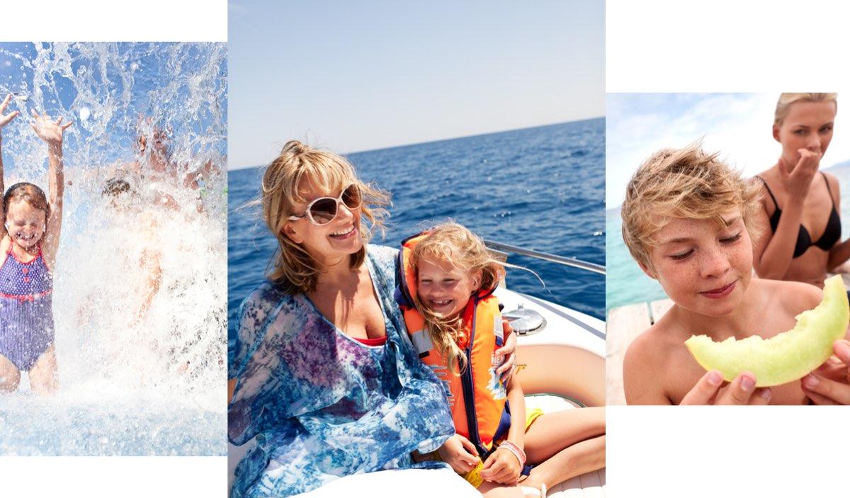 Aurinkomatkat koko perheen vesileikki