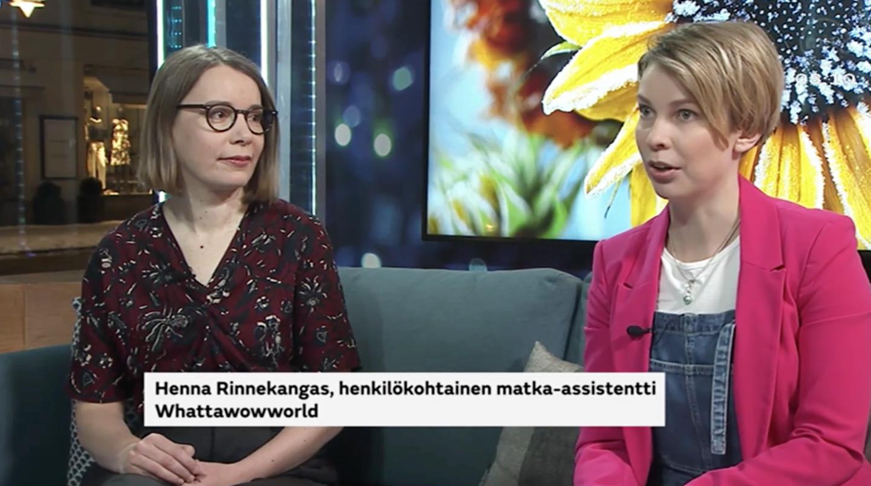 Henkilökohtainen matka-assistentti Huomenta Suomi -ohjelmassa