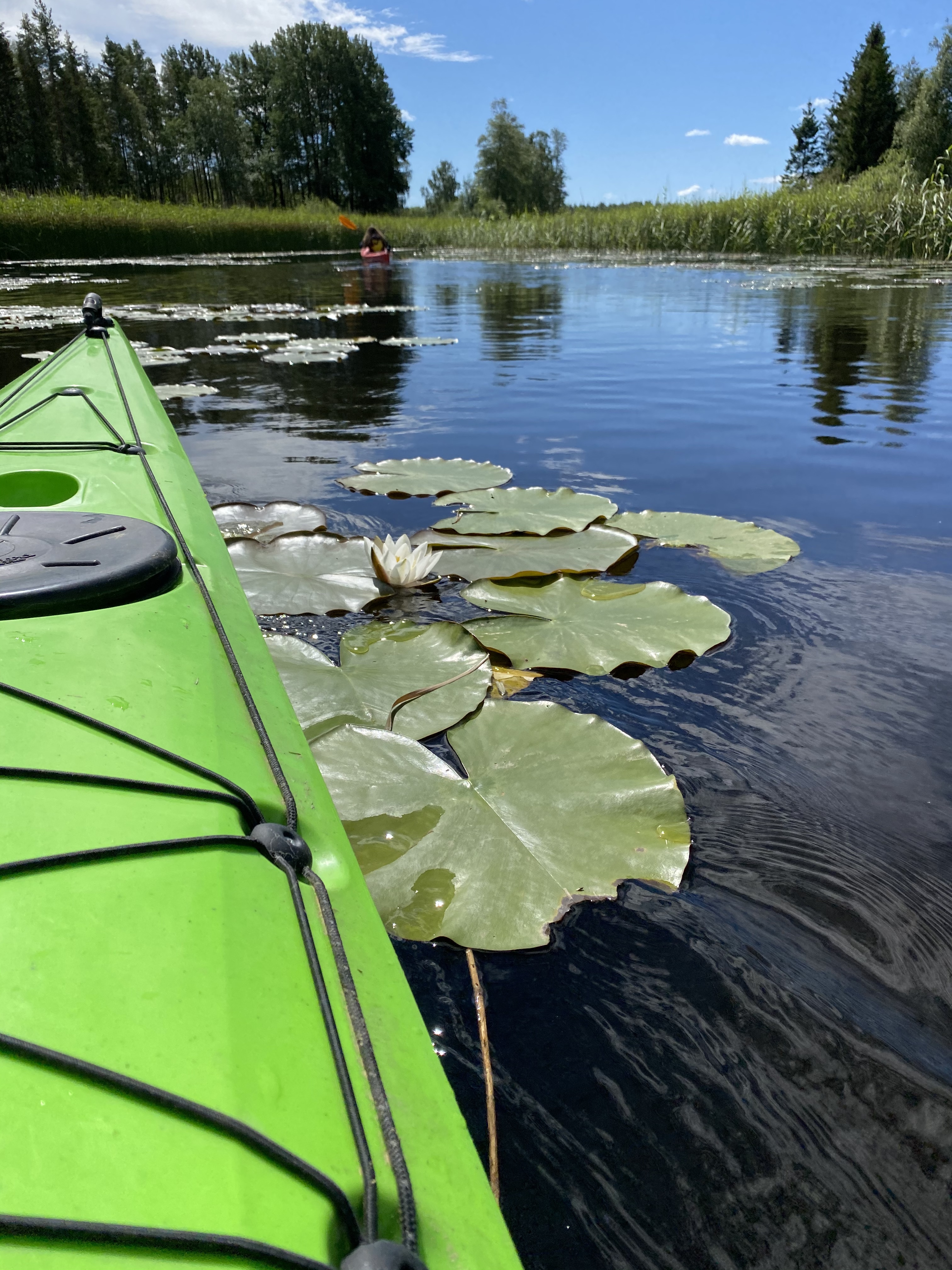 Kajakk på Vansjø- Vestre Kjærnes gård