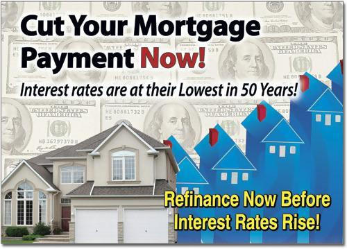 Cut your mortgage payment non postcard example