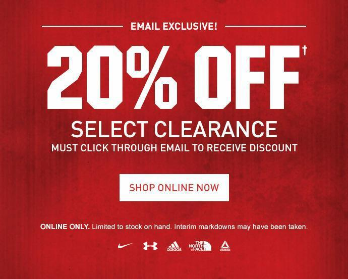 Example of a clear and direct offer from a sporting goods retailer
