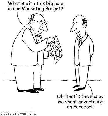 Facebook advertising cartoon