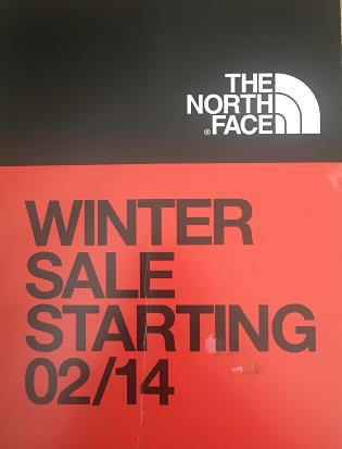 The North Face postcard, super direct and clear