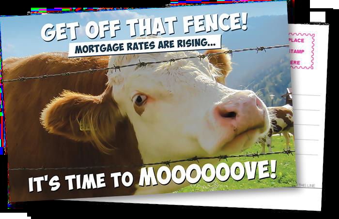 Image of a cheesy mortgage postcard.
