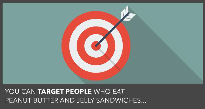 "Graphic of an arrow hitting the bullseye- ""target people"""