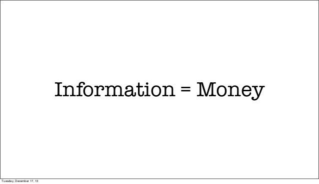 information=money