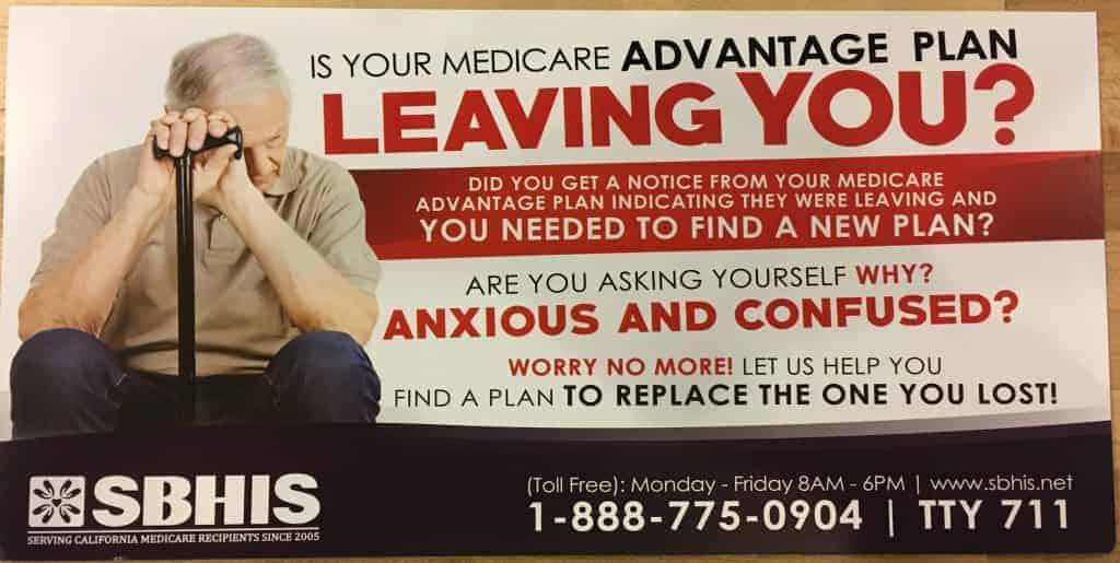 Picture of medicare postcard featuring motivating copywriting.