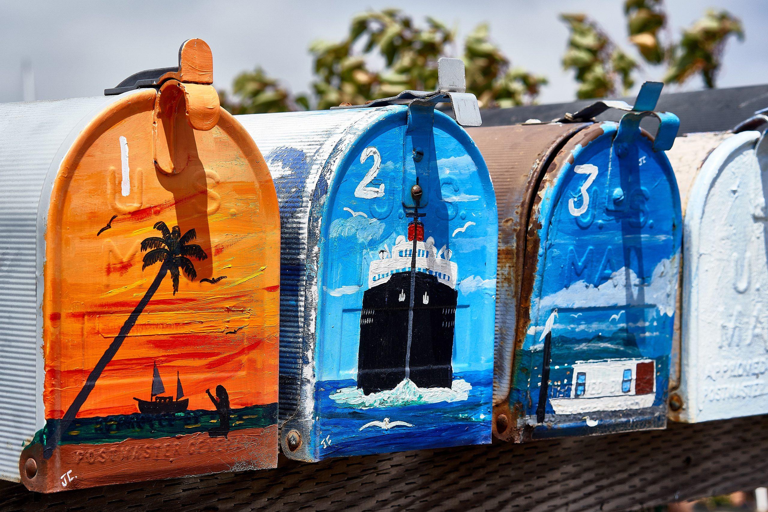 A row of mailboxes: EDDM