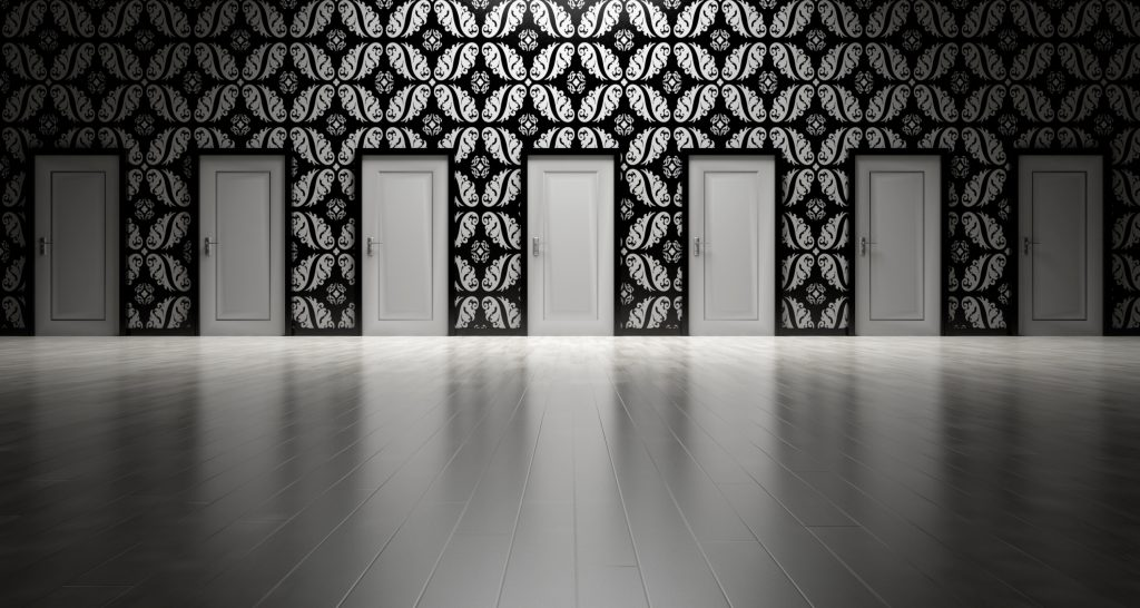 Picture of several doors.