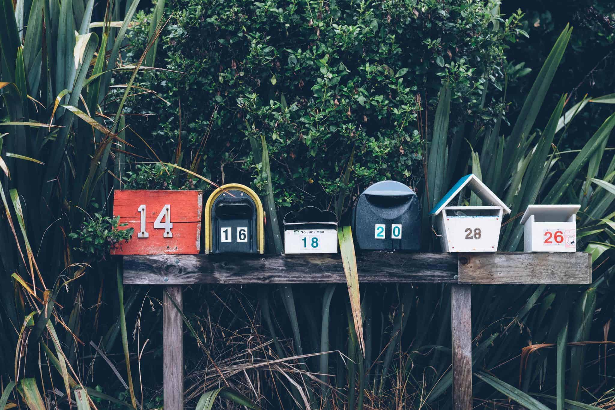 Image of several mail boxes.