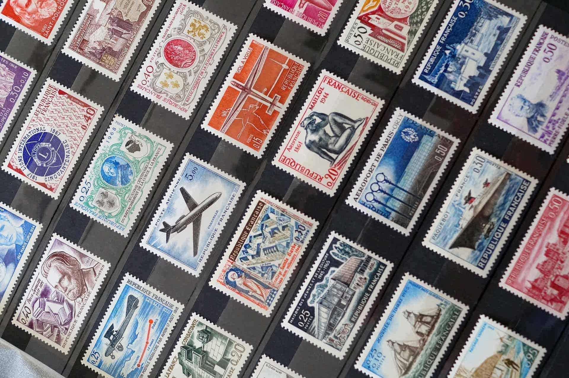 Image of postage stamps