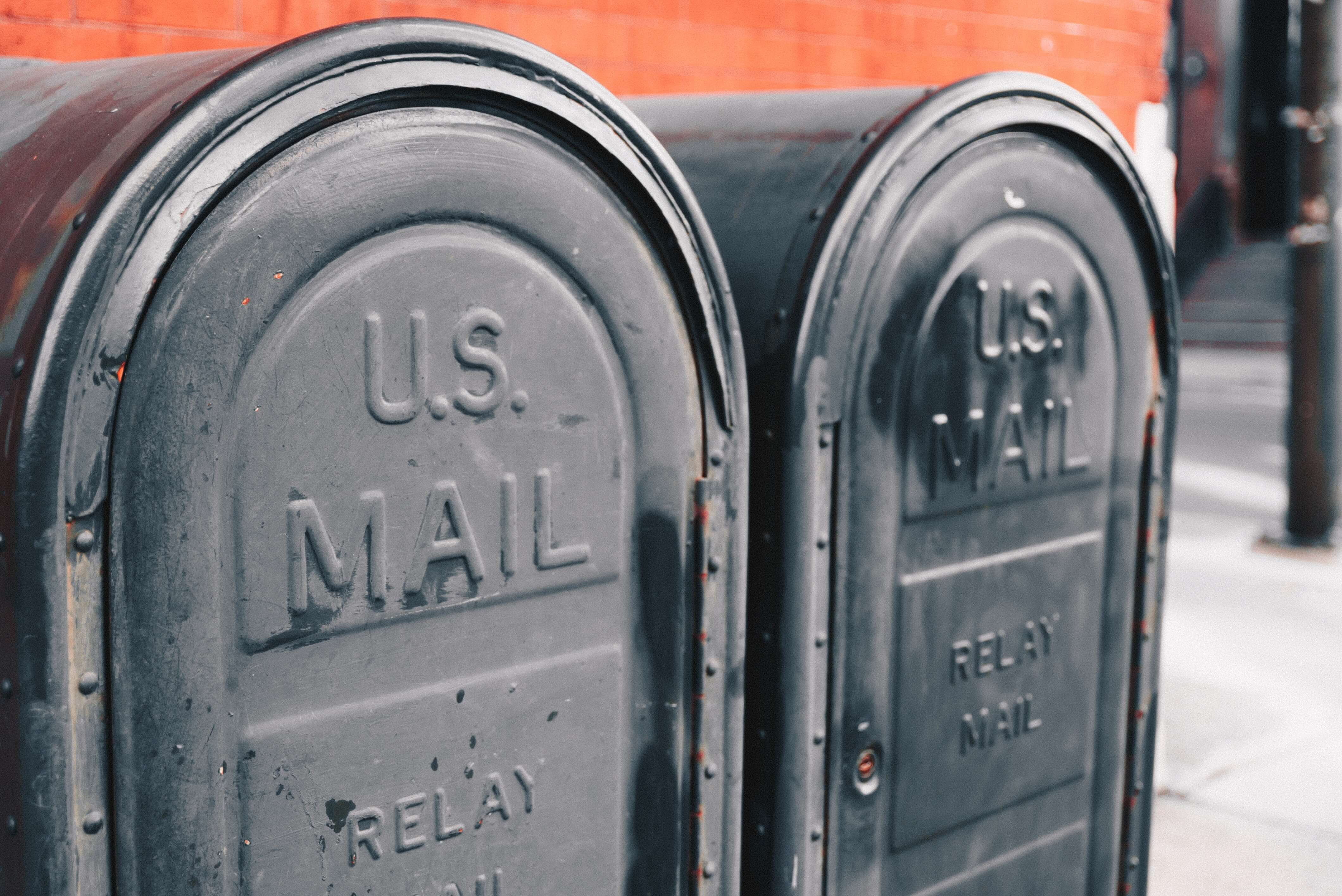U.S. mail boxes
