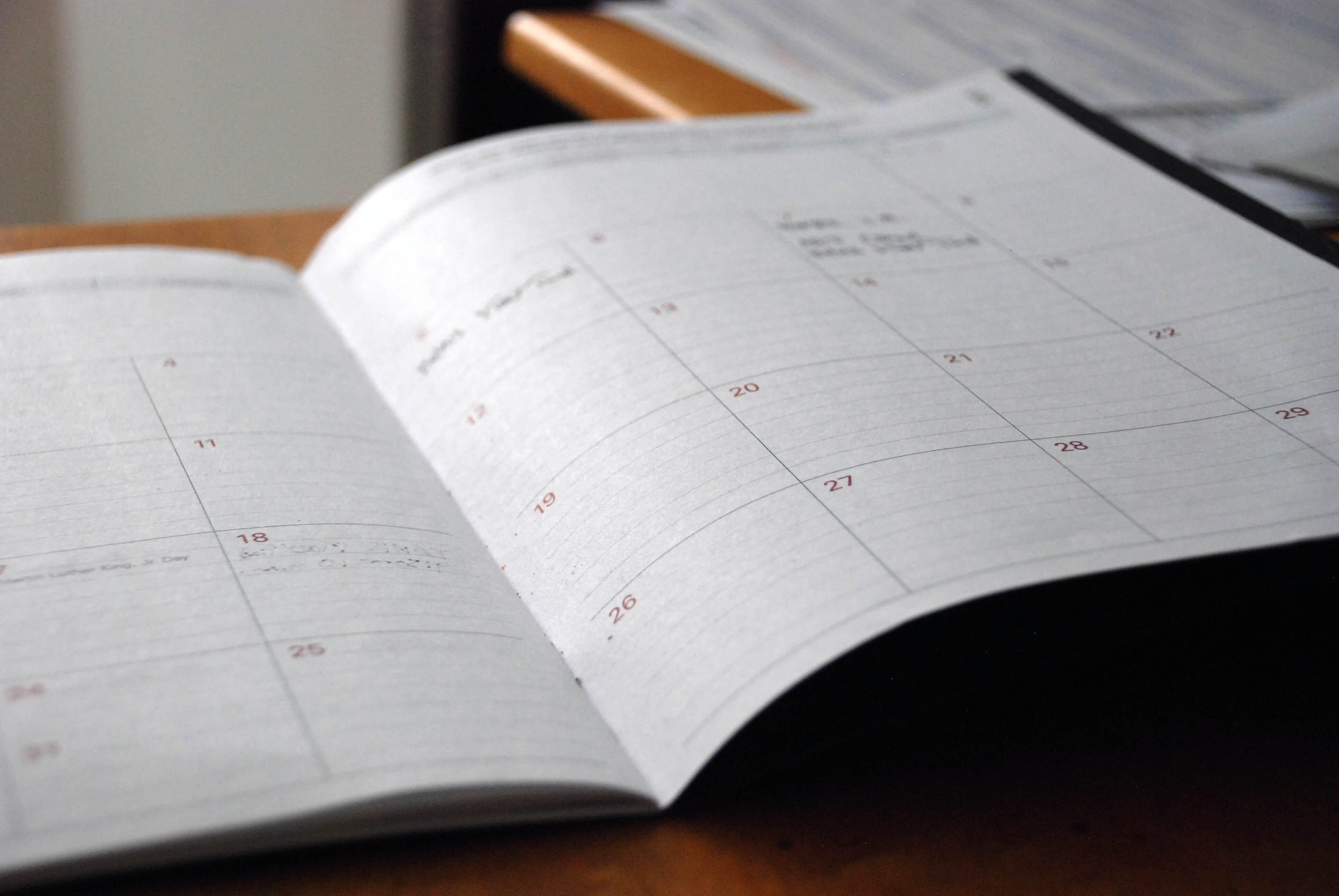 open schedule book