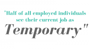Half of all employed individuals see their current job as