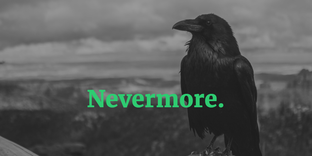 Image of crow saying nevermore