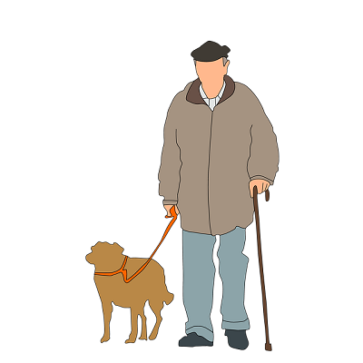 pet with the old people | animal hospital in madison