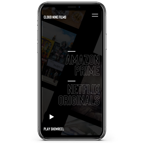 Cloud Nine Films Web Design on Iphone
