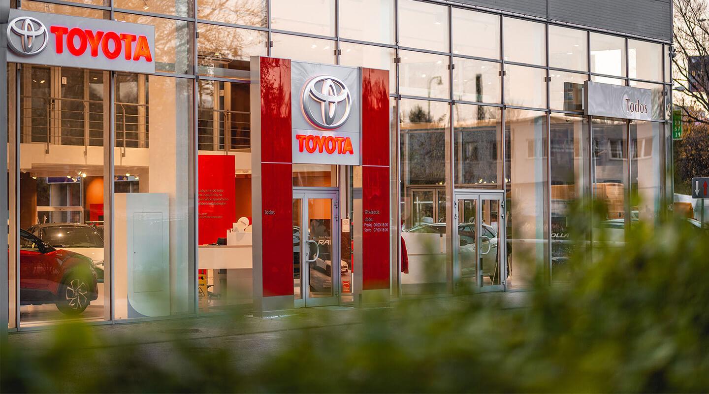 Todos Toyota - pobočka Bratislava exteriér