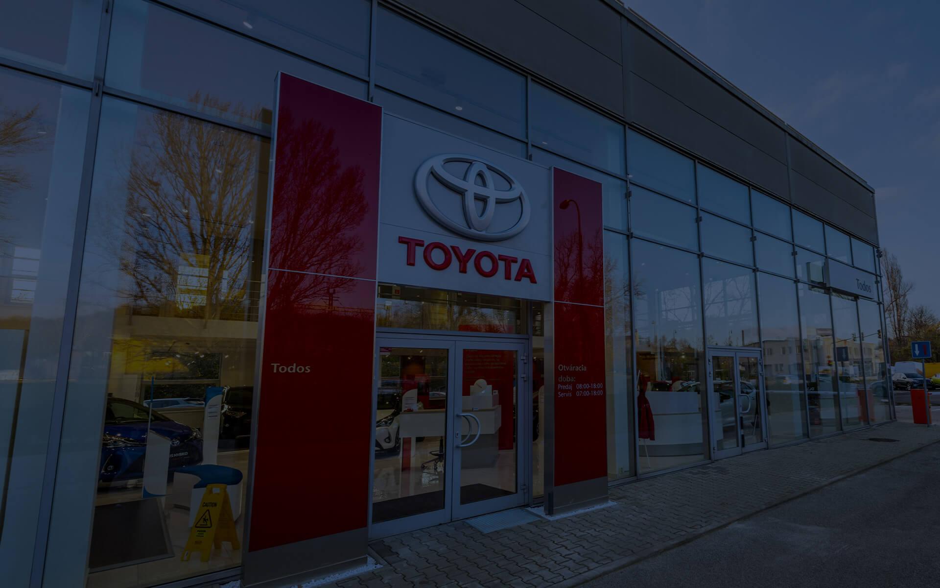 Predaj a servis vozidiel Toyota