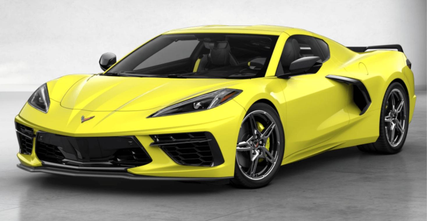 Corvette C8 Stingray Coupe Accelerate Yellow Metallic