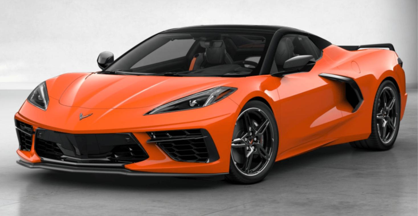 Corvette C8 Stingray Convertible Amplify Orange Tintcoat