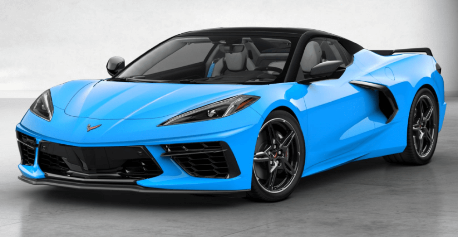 Corvette C8 Stingray Convertible Rapid Blue