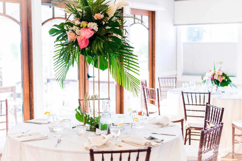 Tropical Wedding Tablescape