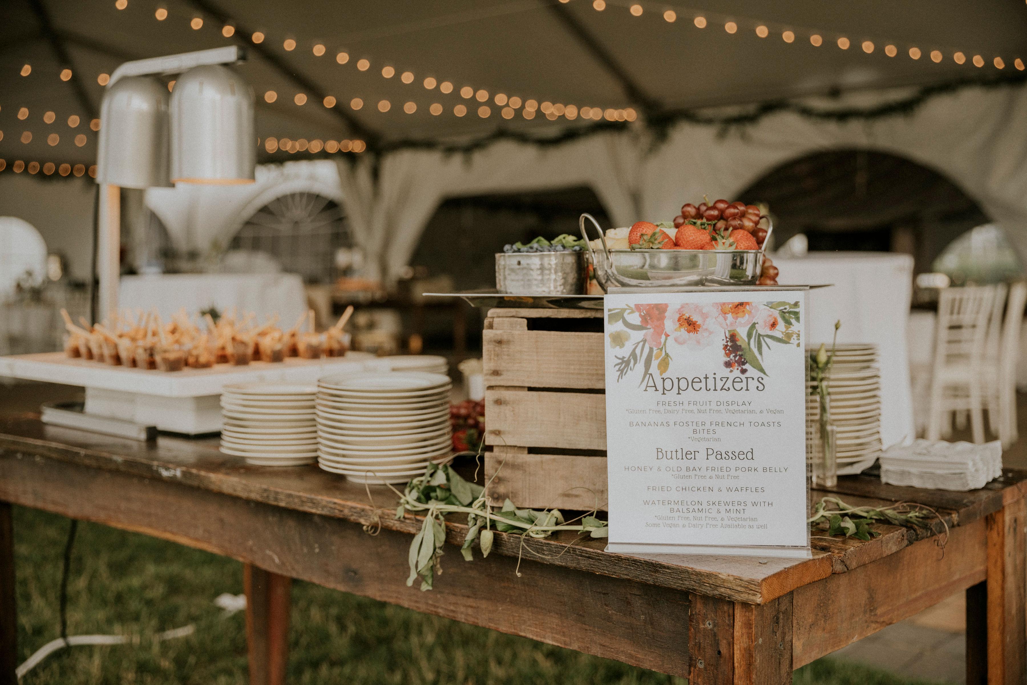 Wedding Appetizer Station