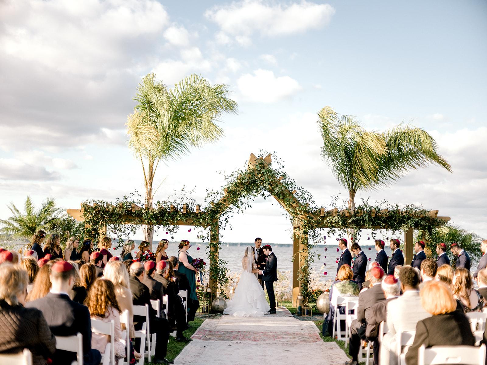 Polynesian Lawn Wedding