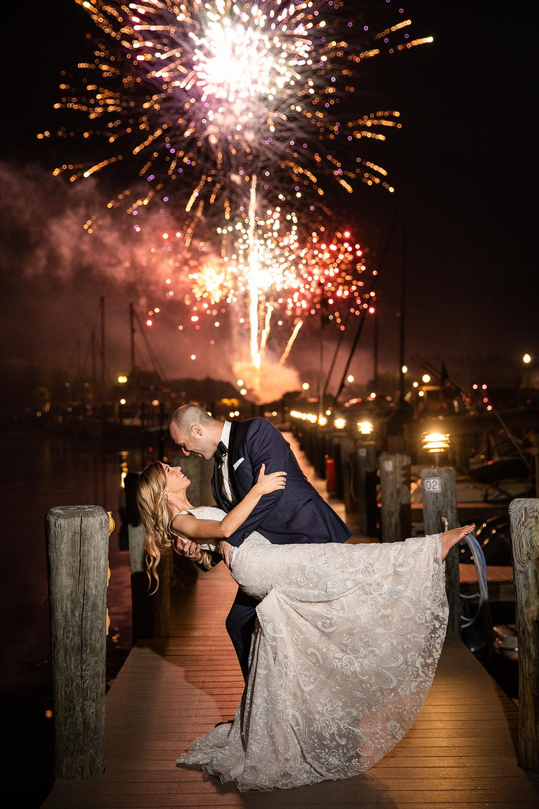 Herring Bay Garden Couple Fireworks