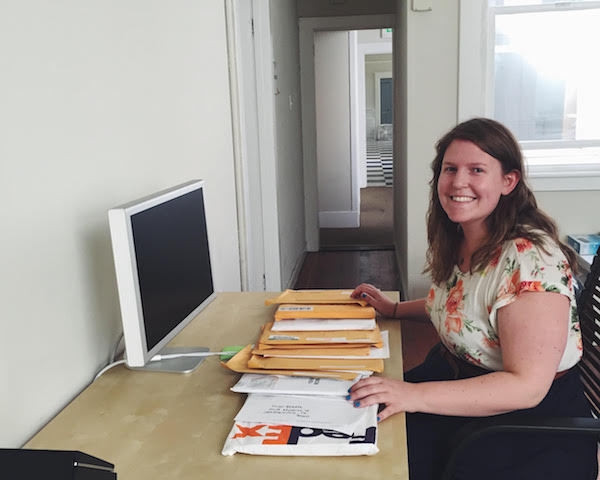 Sophie at PicnicHealth HQ with a day's worth of medical records