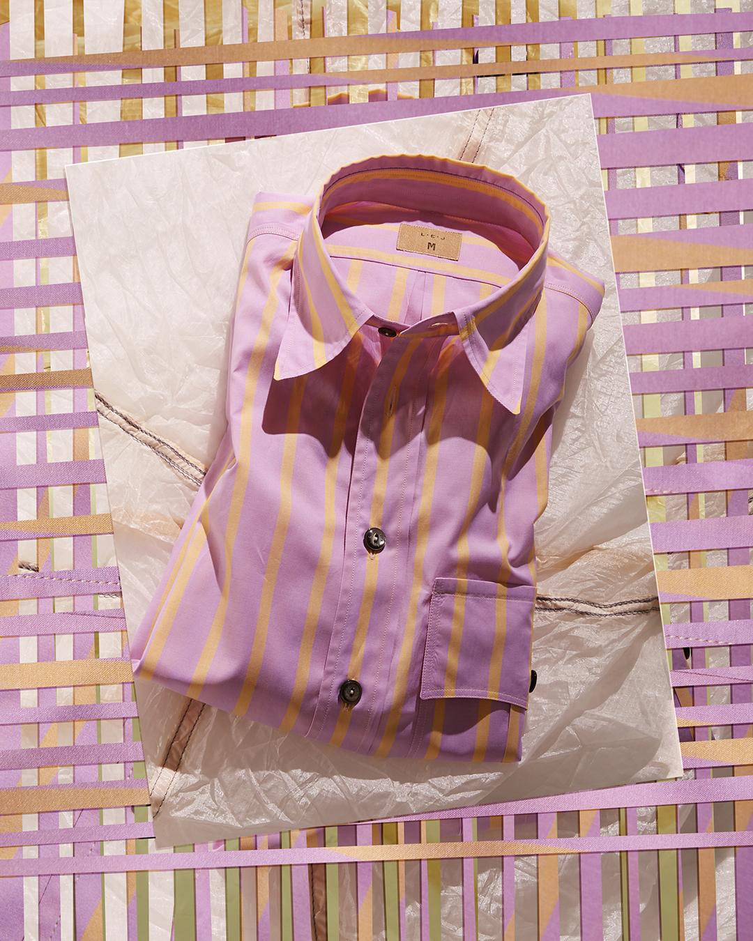 ! Pocket Officer's Shirt Rhubarb and Custard