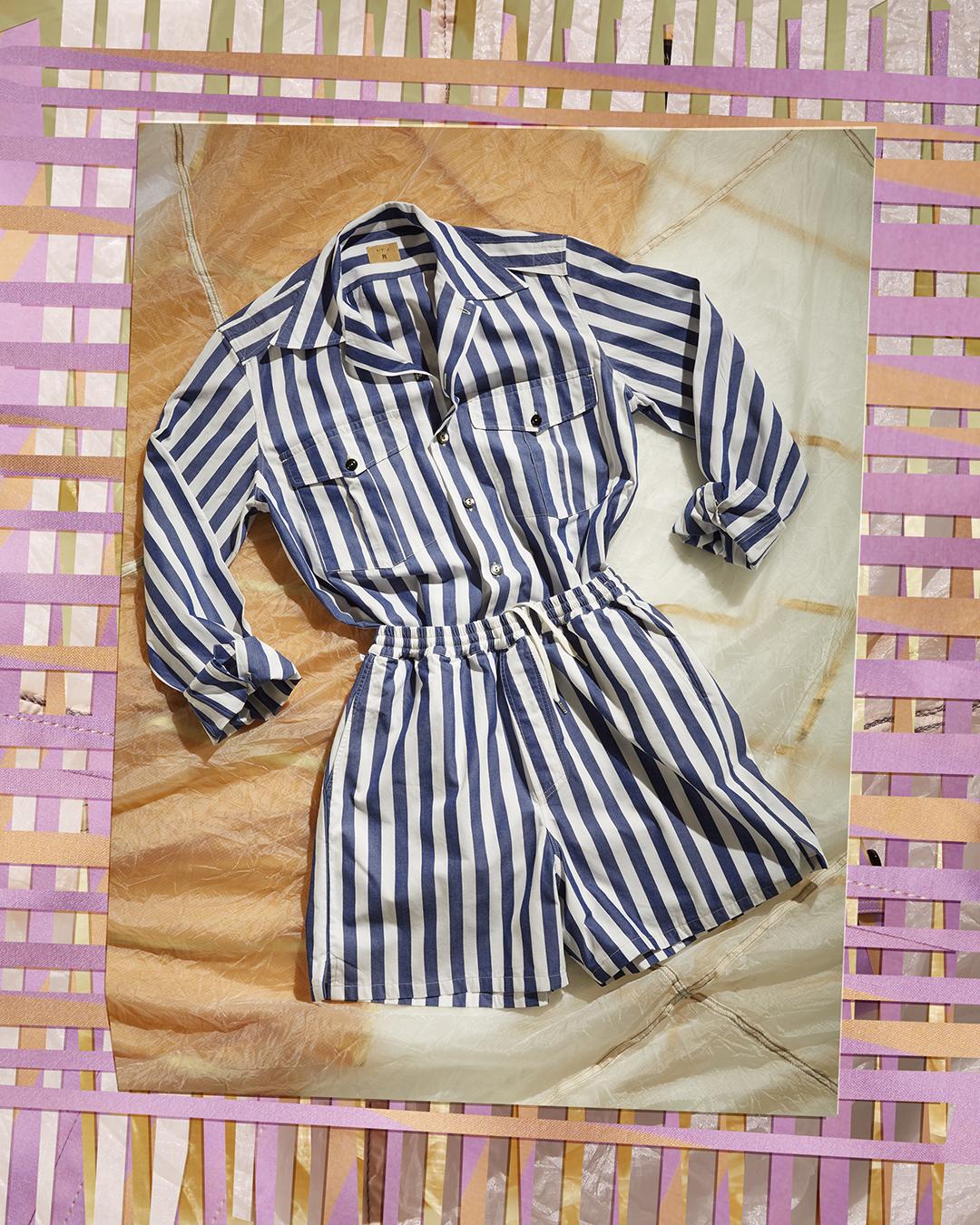 2 pocket slevedge brolly stripe playsuit