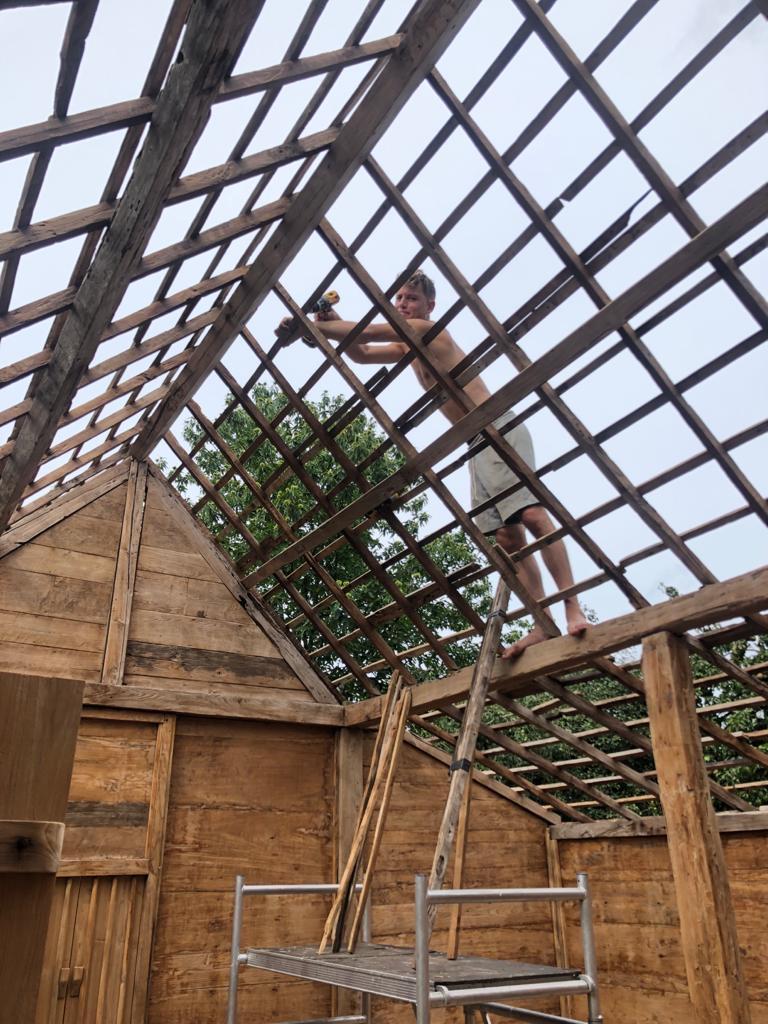 Balinese huisje in aanbouw