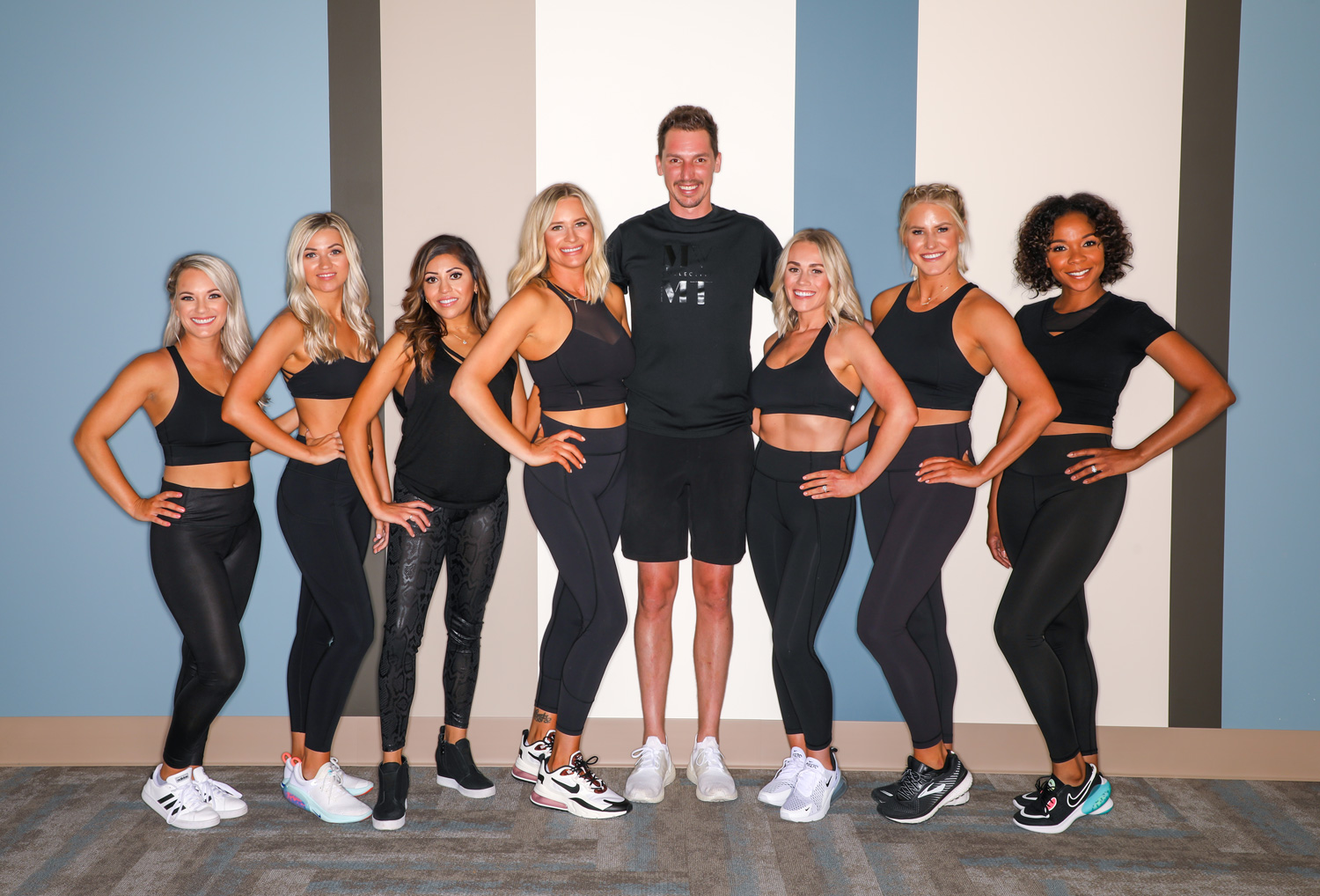 The fitness studio's staff