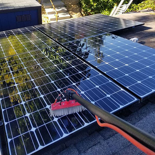 solar panel cleaning in escondido