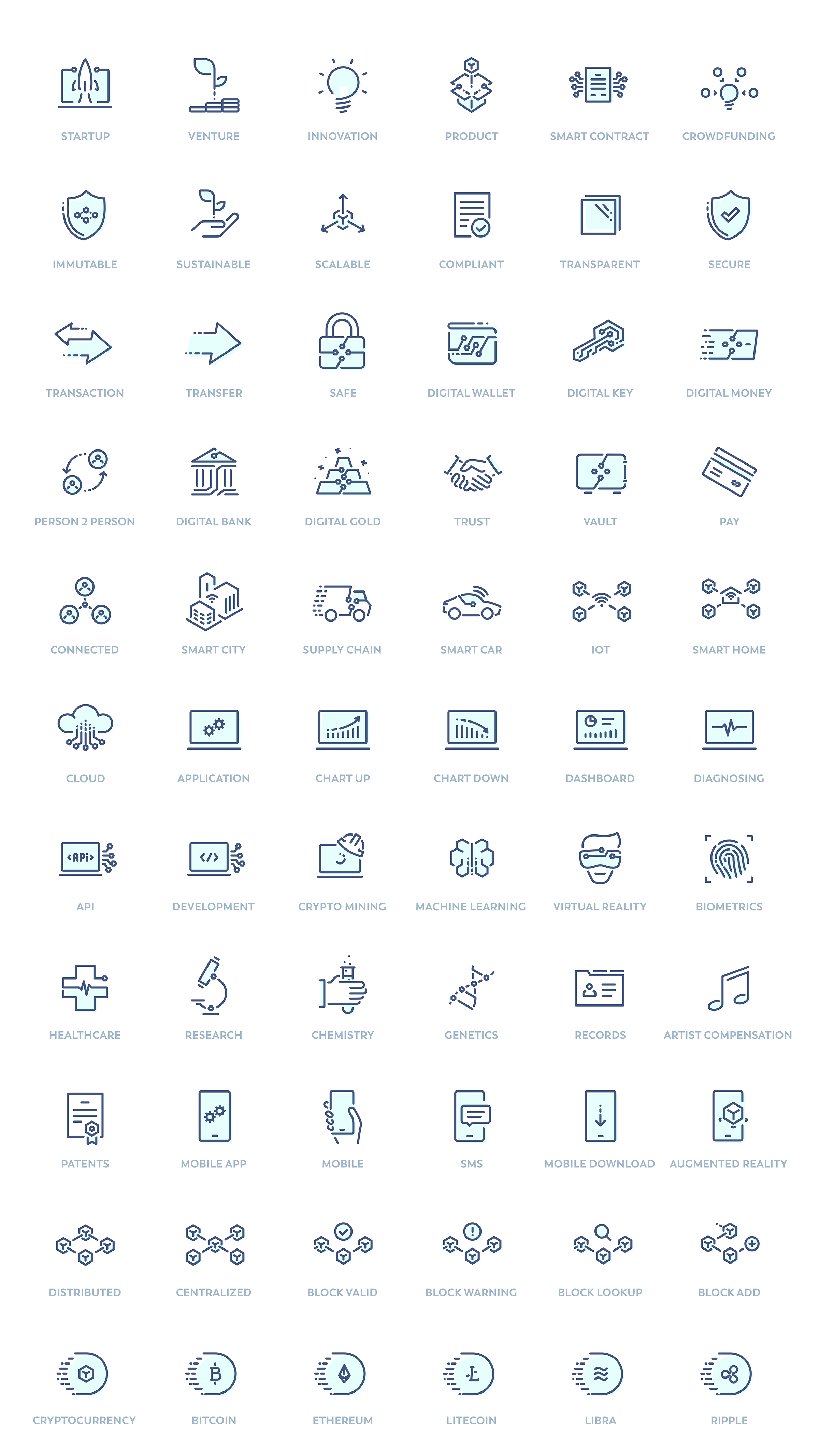 Synergy - Free Icon Pack for Blockchain Companies