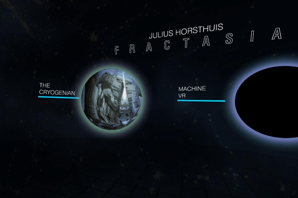 Julius Horsthuis Fractasia VR Project Menu Interface