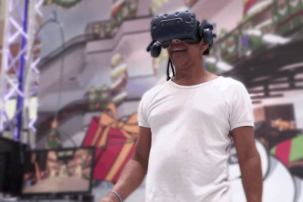 Market City Candy Cane VR Fight Event Activation Photo 1