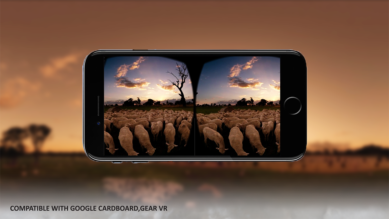 Woolmark VR Menu mobile screen mockup 02