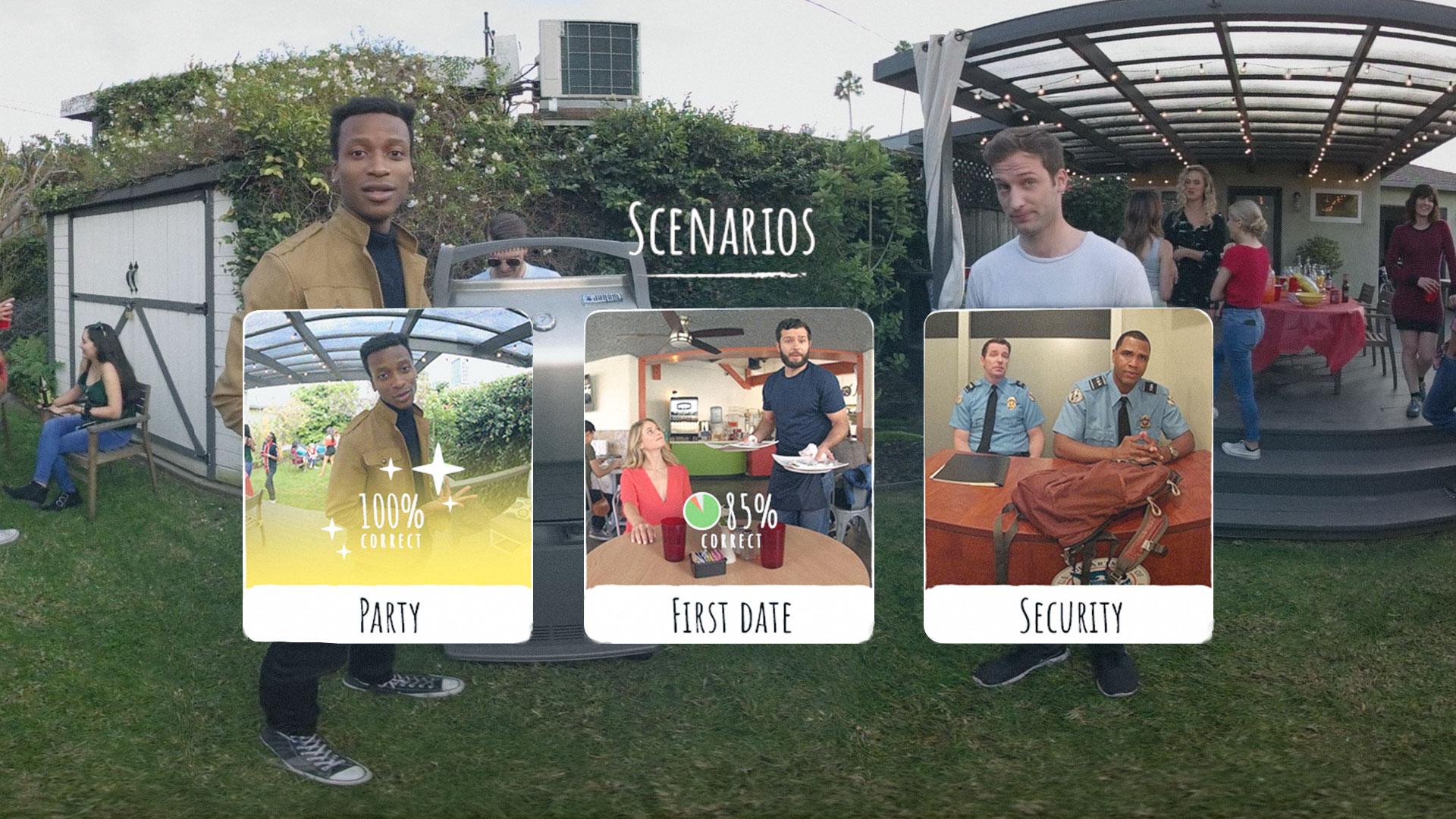Social Wise VR menu screen by Bridge Behavioural