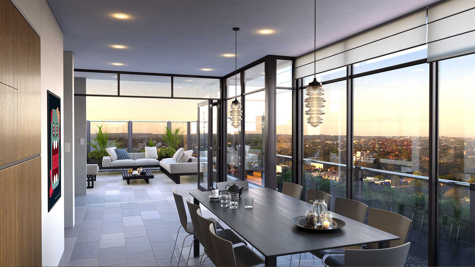 VR Real Estate Rooftop View