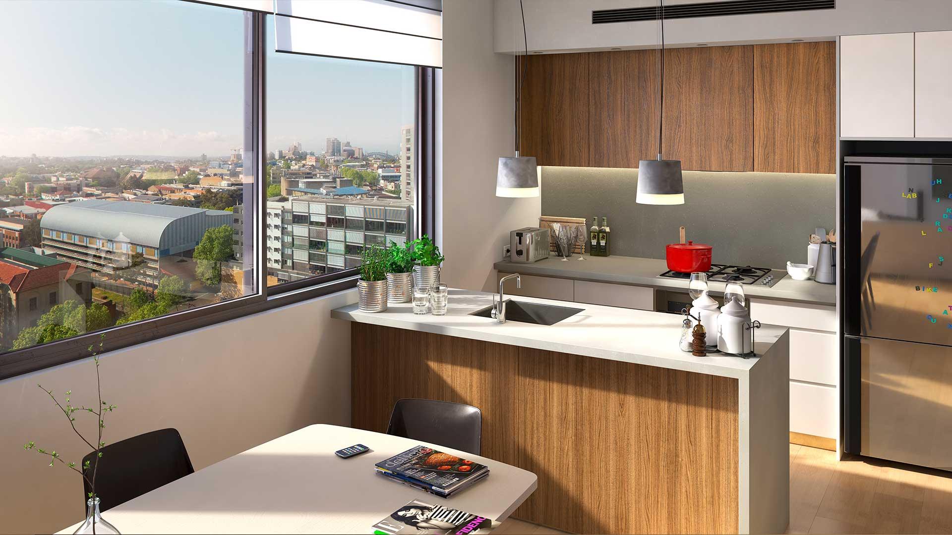 VR Property Sales Edge 28 Kitchen